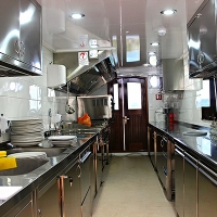 Adriatic Prestige ship kitchen