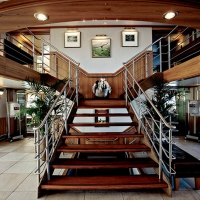 River Discovery Foyer with staircase