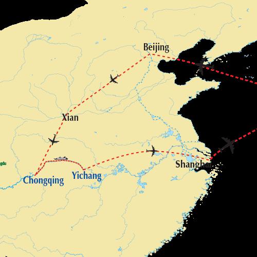China River Cruise Map 2019
