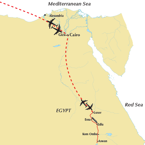 Enchanting Egypt 2018 River Cruise Map