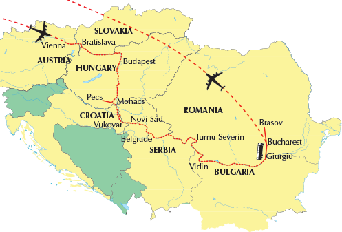 danube-river-cruise-map - Value World Cruises on